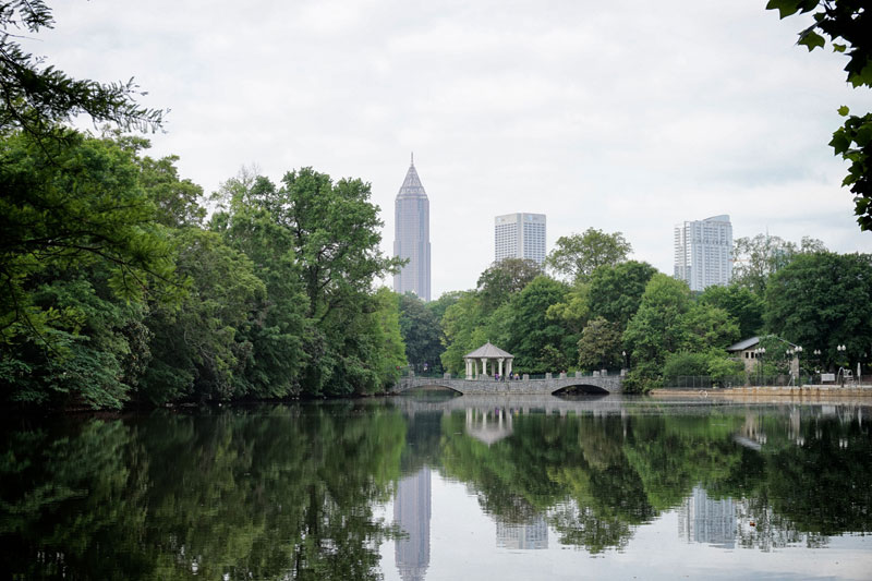 Lake Clara Meer in Piedmont Park, Atlanta