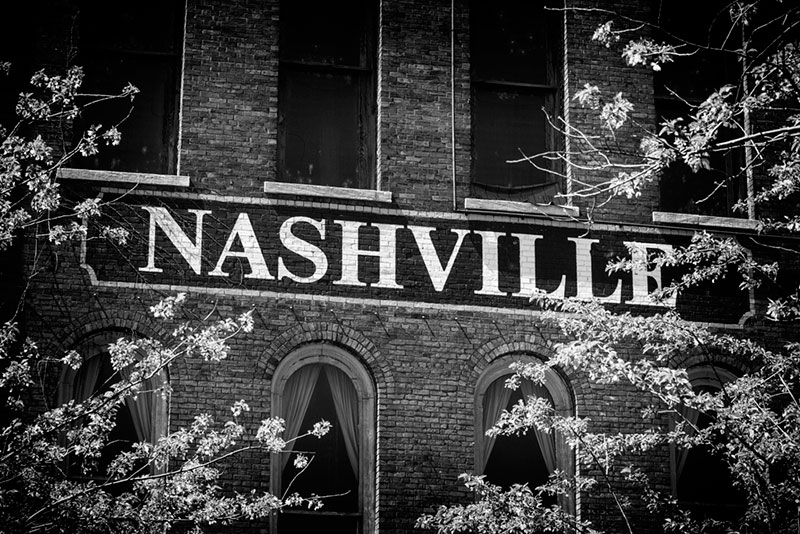 Black and white photographs of Nashville by Keith Dotson