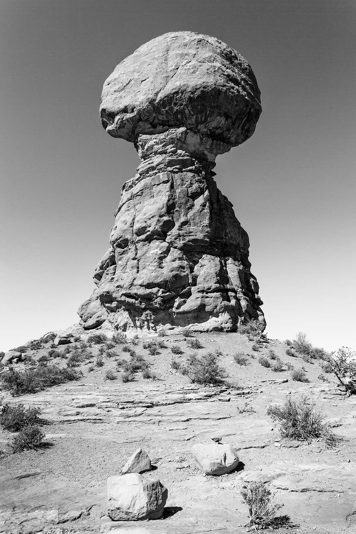 Stone Column Balanced Rock landscape Utah by Keith Dotson