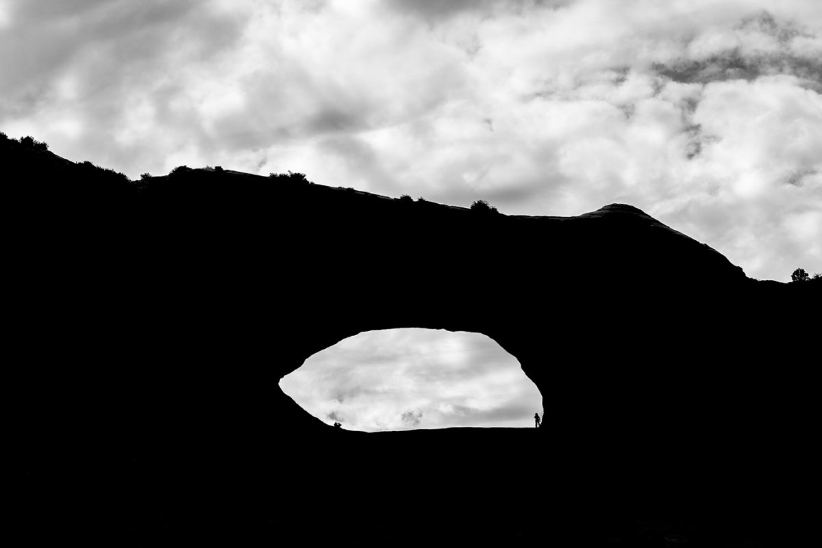Utah Arch silhouette landscape photograph by Keith Dotson
