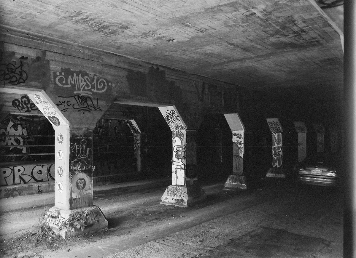 The Krog Street Tunnel has become famous as a location for wall-to-wall street art, tagging, and graffiti.