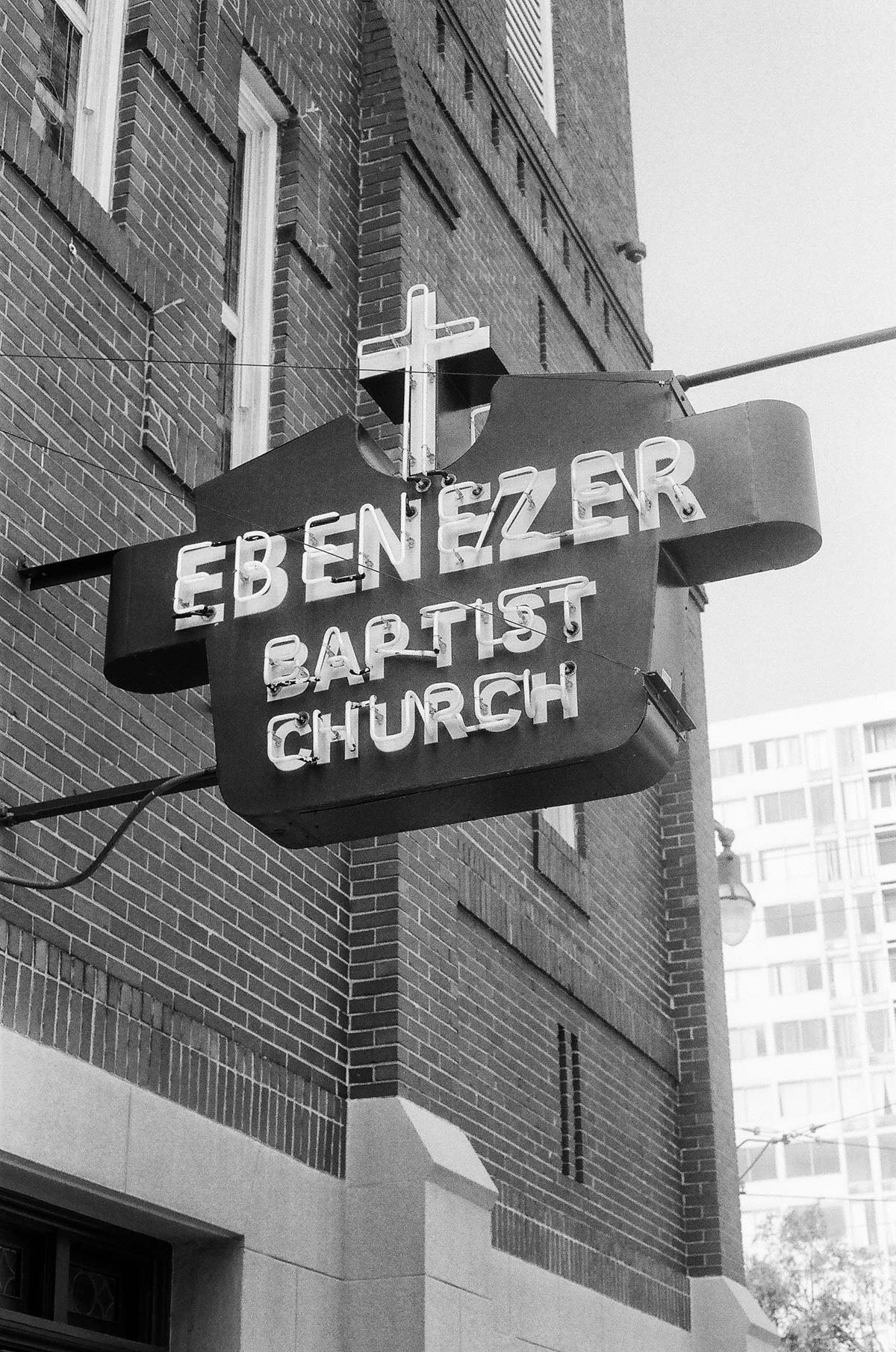 MLK's Ebenezer Baptist Church, where Dr. King was a pastor and gave sermons.