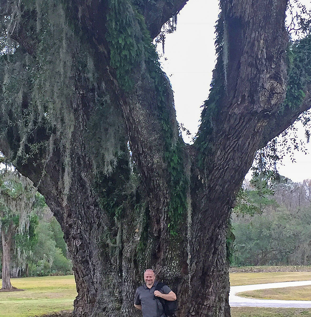 Look how small I look next to this mammoth, magnificent tree near Charleston, South Carolina. Picture by Caitlin Dotson.