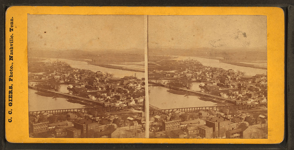 NE Nashville showing Cumberland River and Edgefield, 1870