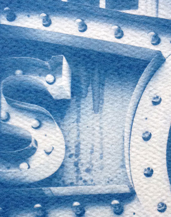 This is a close-up photo of a cyanotype I made a few weeks ago.
