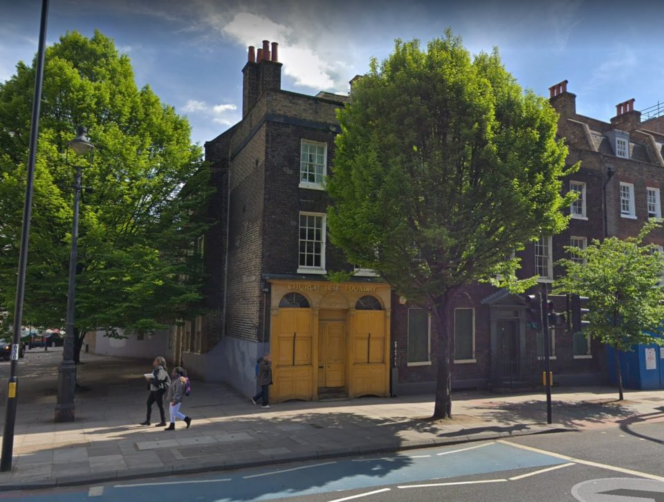 Whitechapel Bell Foundry, where the Liberty Bell was cast. Image courtesy of Google Street View.jpeg