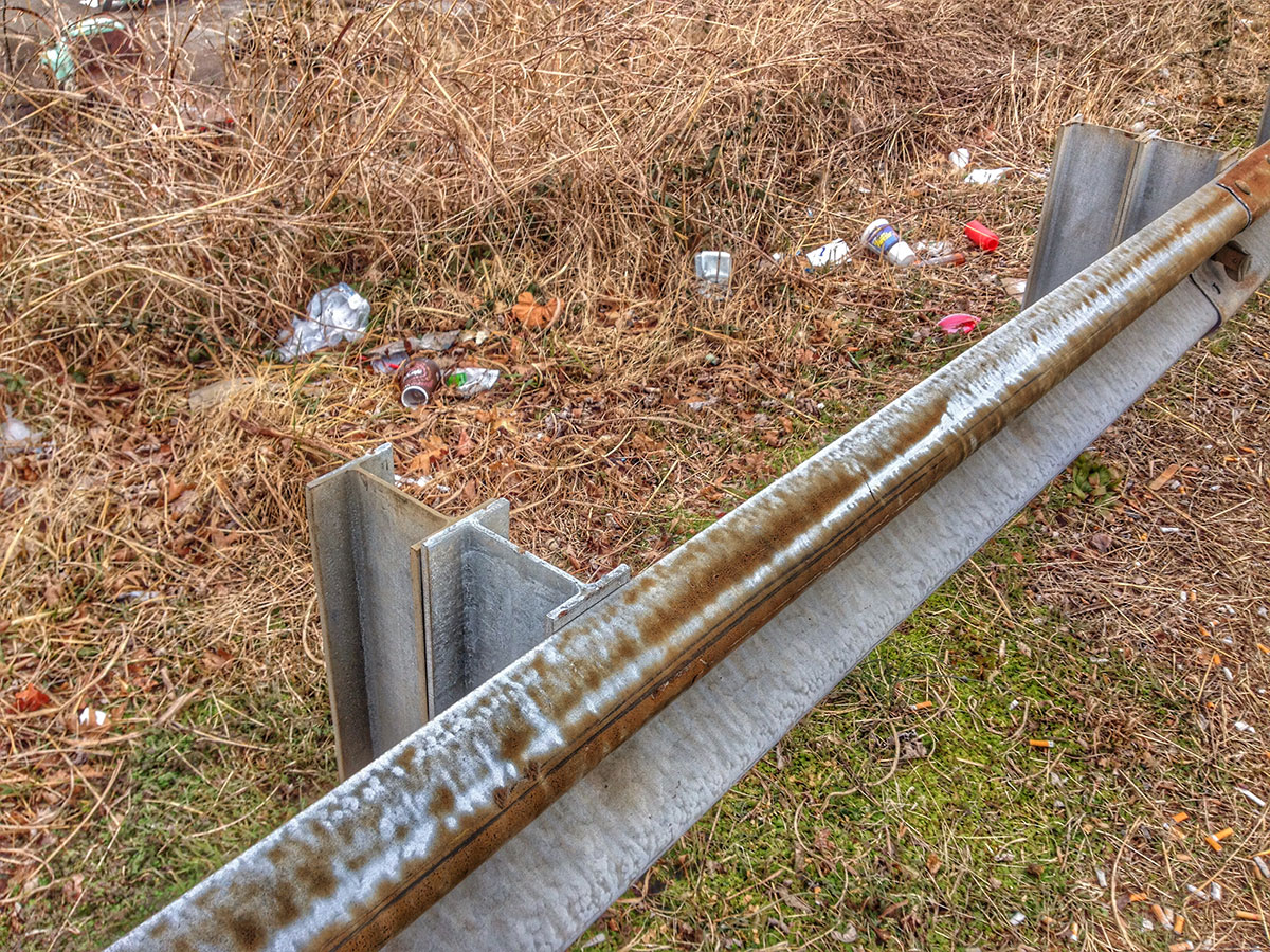 There's abundant trash to be found along roadways, especially in states like Tennessee with ineffective or absent adopt-a-highway programs