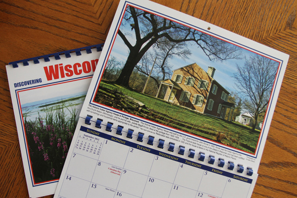 The Historic Indian Agency House in Portage Wisconsin was built in 1832. My photograph of the building is featured in a new calendar for 2012.