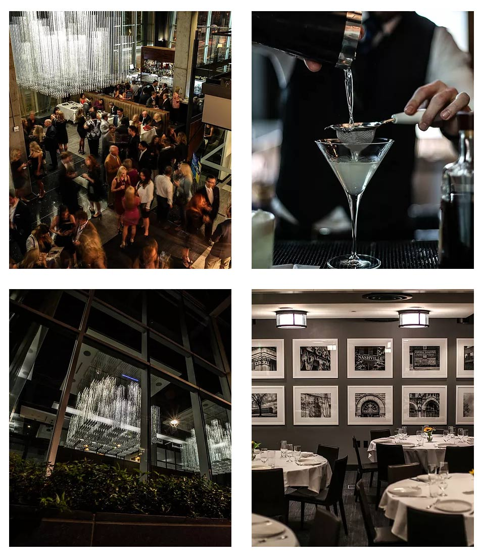 Scenes from Prima Nashville, courtesy of their website. Bottom right is the private room showing my black and white photographs of Nashville. Prima photographs by Michael Sati