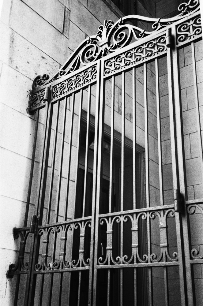 Iron gate on one of Nashville's downtown churches