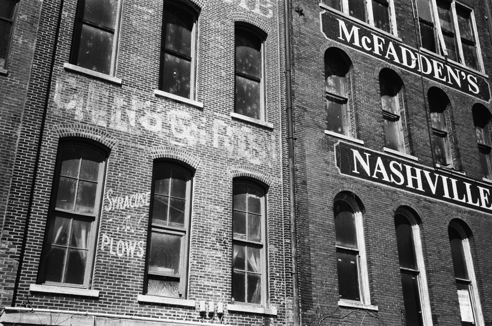 Ghost signs on the historic Nashville waterfront