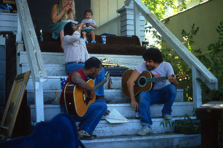 Rehearsal on the steps of an old house in Houston