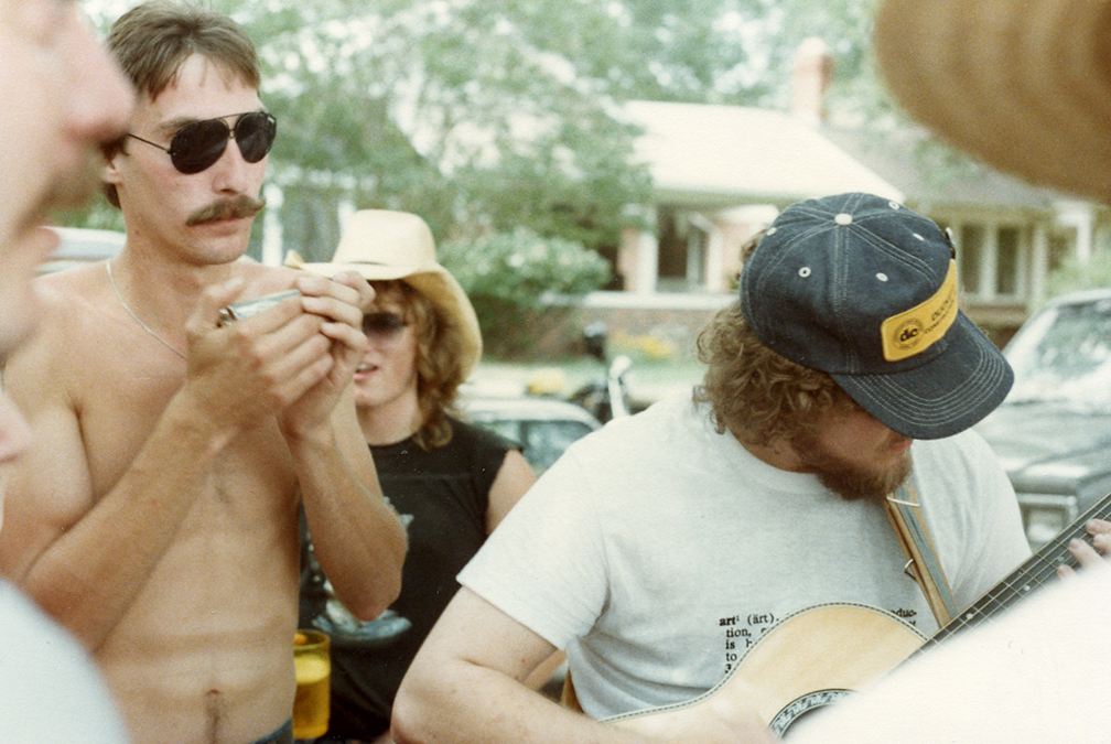 Impromptu party in a neighborhood park in Houston in 1983