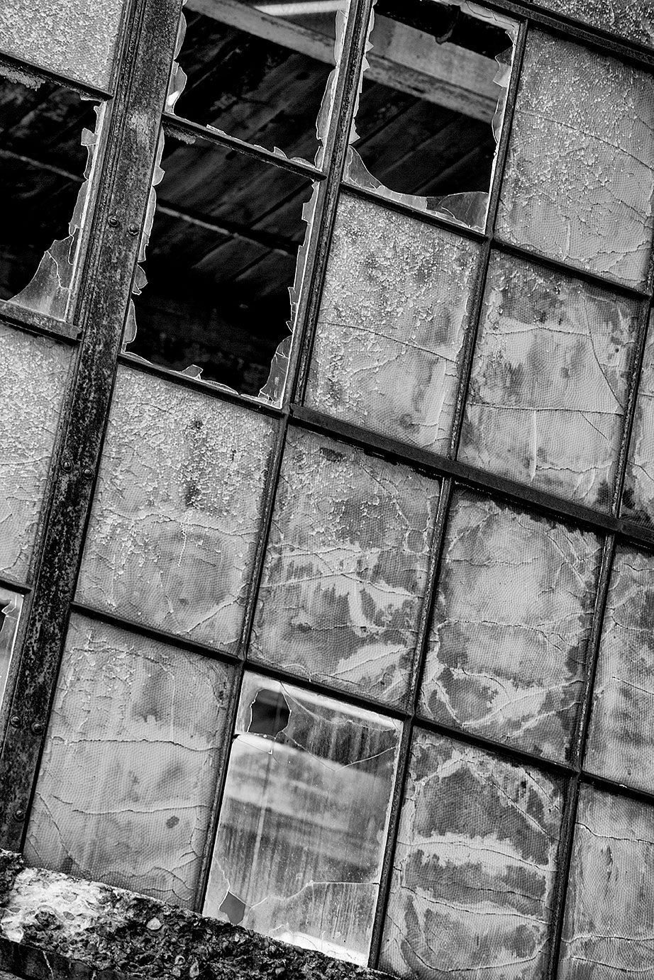 Broken Industrial Windows