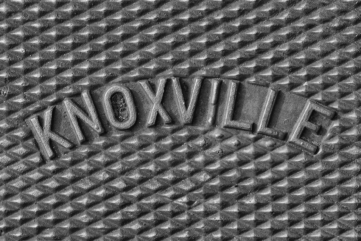 Knoxville Written in Iron - black and white photograph by Keith Dotson.