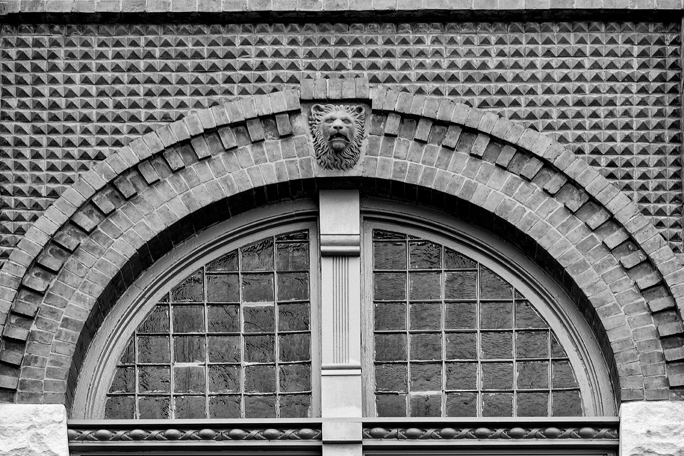 Lion Head Architectural Detail
