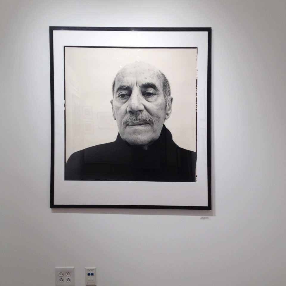 Portrait of Groucho Marx by Richard Avedon, seen recently on exhibition