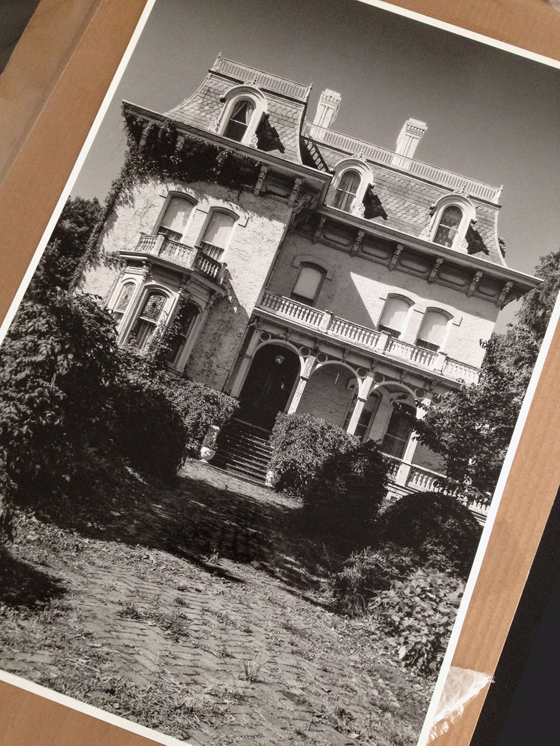 "Riverlore Mansion, built 1865 by a riverboat captain / businessman. Final 16"" x 24"" silver gelatin print on baryta fiber-base paper, shipping to a collector in Memphis."