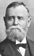 Riverlore builder and riverboat captain William P. Halliday, photographed in the 1890s