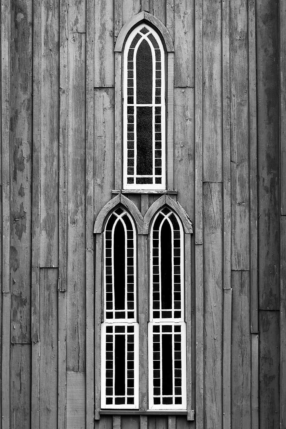 Southern Gothic Window Trio, ca 1850s (A0030909). Click to buy a fine art photo.