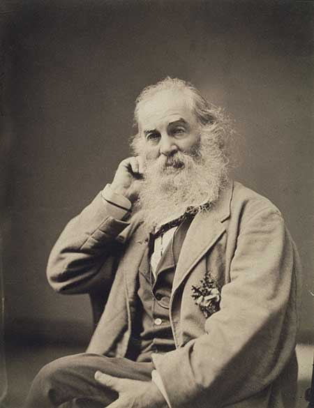 Walt Whitman (1819–1892) by Mathew Brady (1823?–1896). Albumen silver print, circa 1867. National Portrait Gallery, Smithsonian Institution; gift of Mr. and Mrs. Charles Feinberg