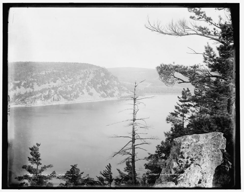 Devil's Lake, Wisconsin. Fine art print from vintage image.