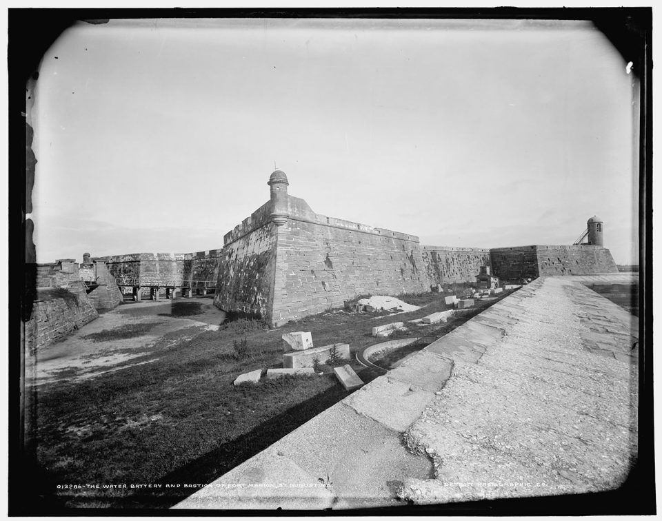 The Water battery and Bastion of Fort Marion, St. Augustine.