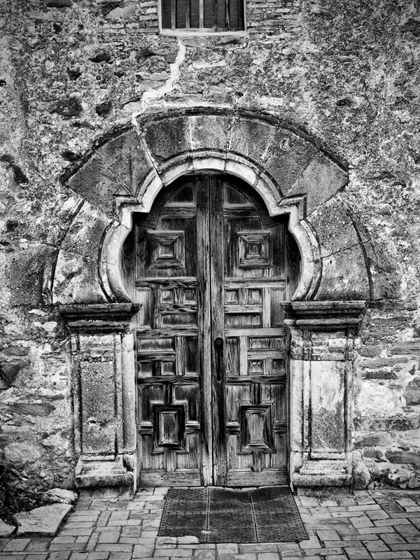 Front Doors of Mission Espada in San Antonio, Texas. Click to buy a fine art print.