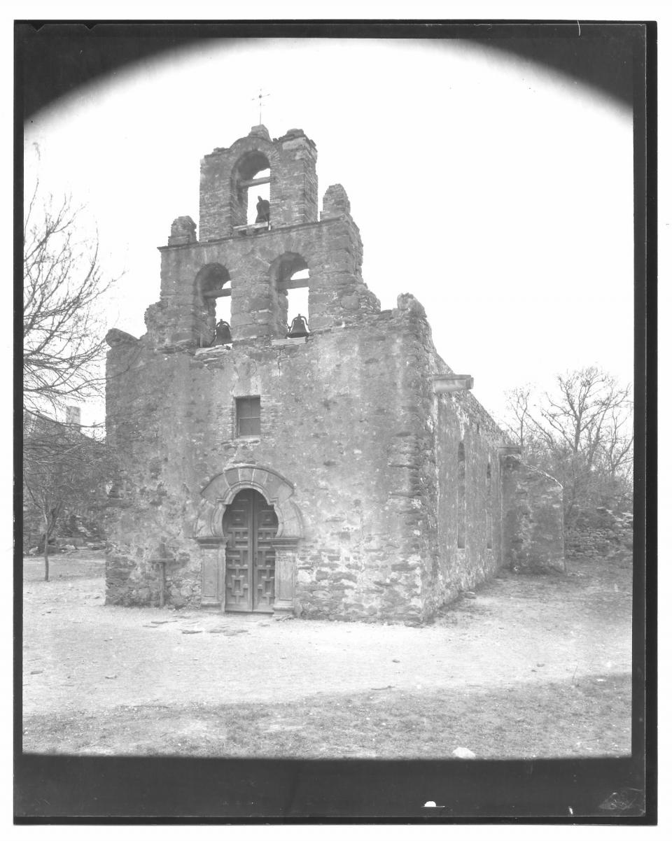 8 x 10 photograph of Mission Espada by Ernst Wilhelm Raba (1874-1951) Creation Date Unknown.