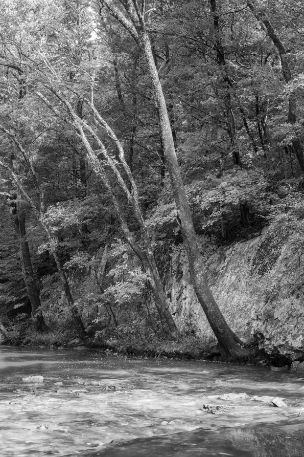 Where the ancients drank, a black and white photograph by Keith Dotson