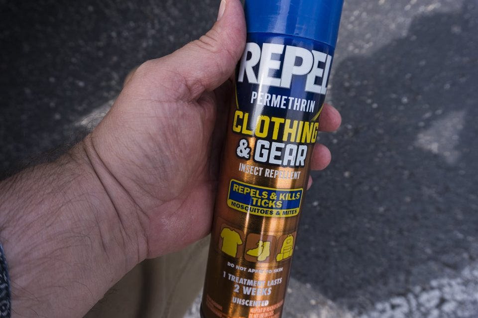 Don't forget your tick protection, if you plan to go hiking. I use a Repel product. Amazon carries a similar one. Click to go there.