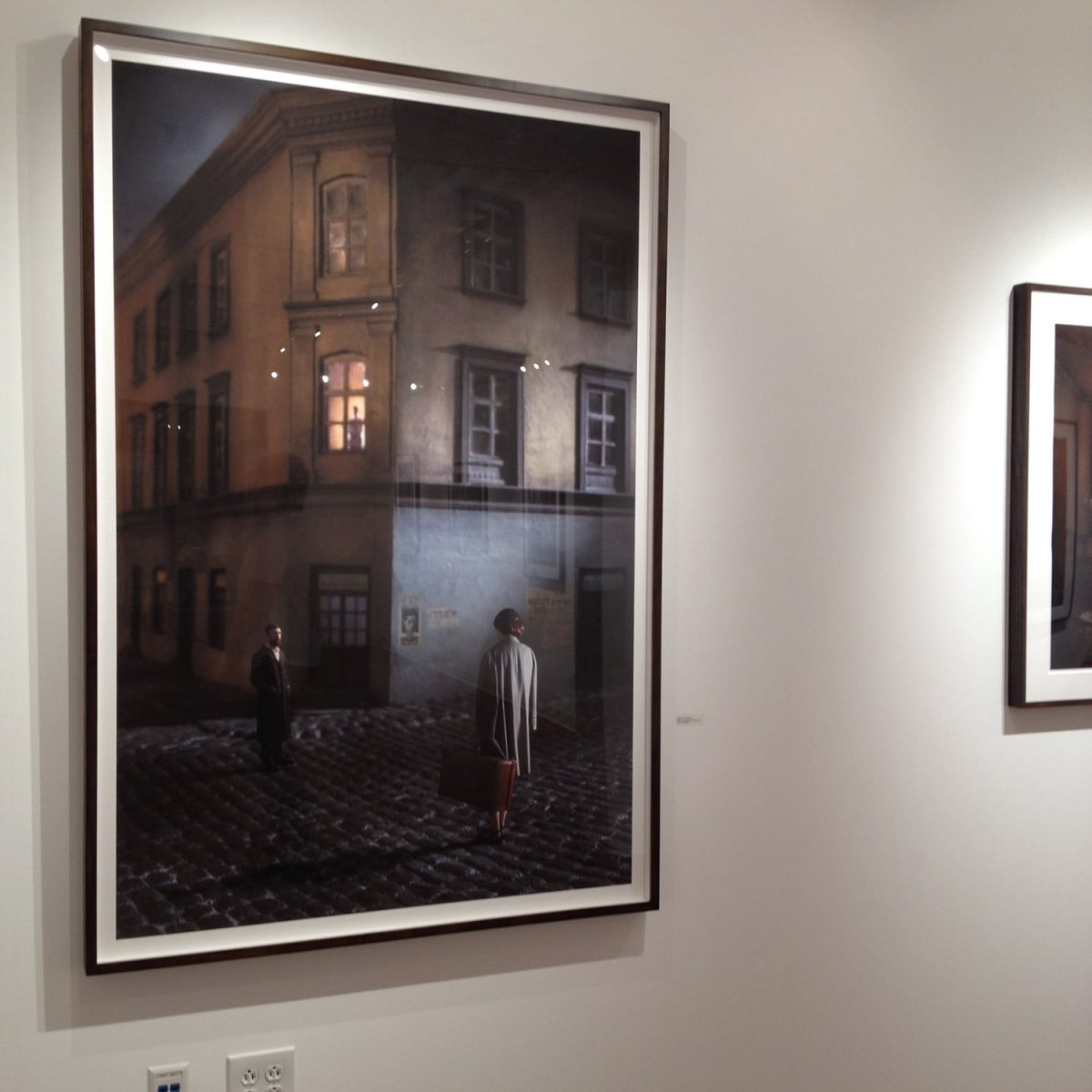 """""""Couple In The Street"""" 2014, by Richard Tuschman. Image from a local exhibition of his work."""
