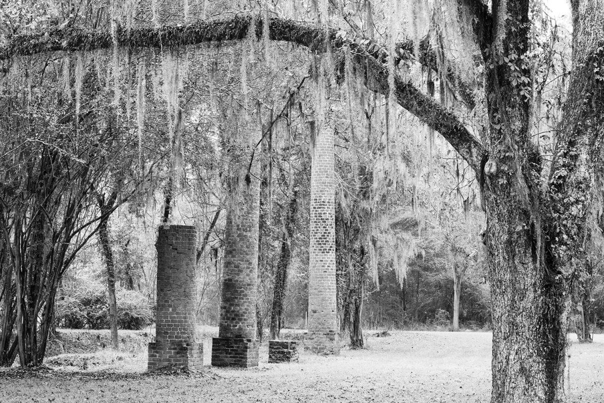 Landscape photograph with Crocheron columns