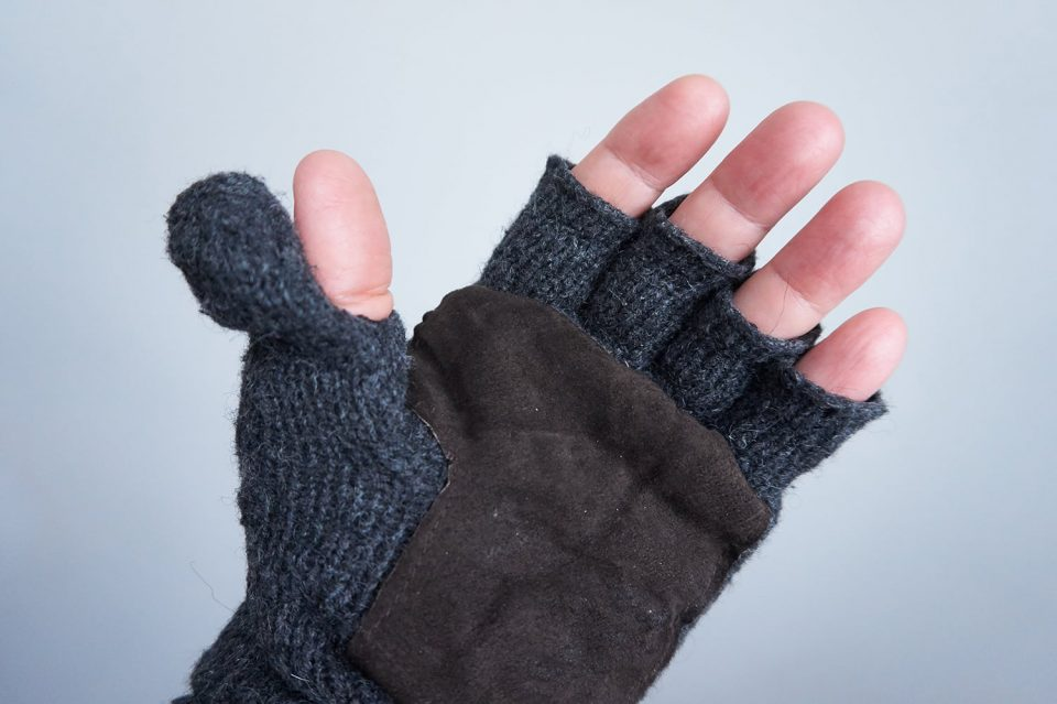 Fingerless mitten gloves perfect for landscape photographers