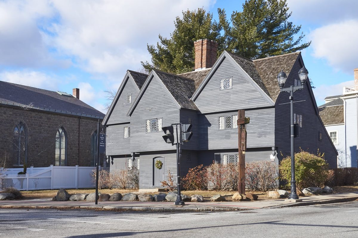The famous Witch House in Salem, believed to have been built between 1620 and 1642. The house was never home to accused witches, but was rather was the home of Judge Jonathan Corwin and is the only still extant structure in Salem with direct ties to the Salem witch trials.