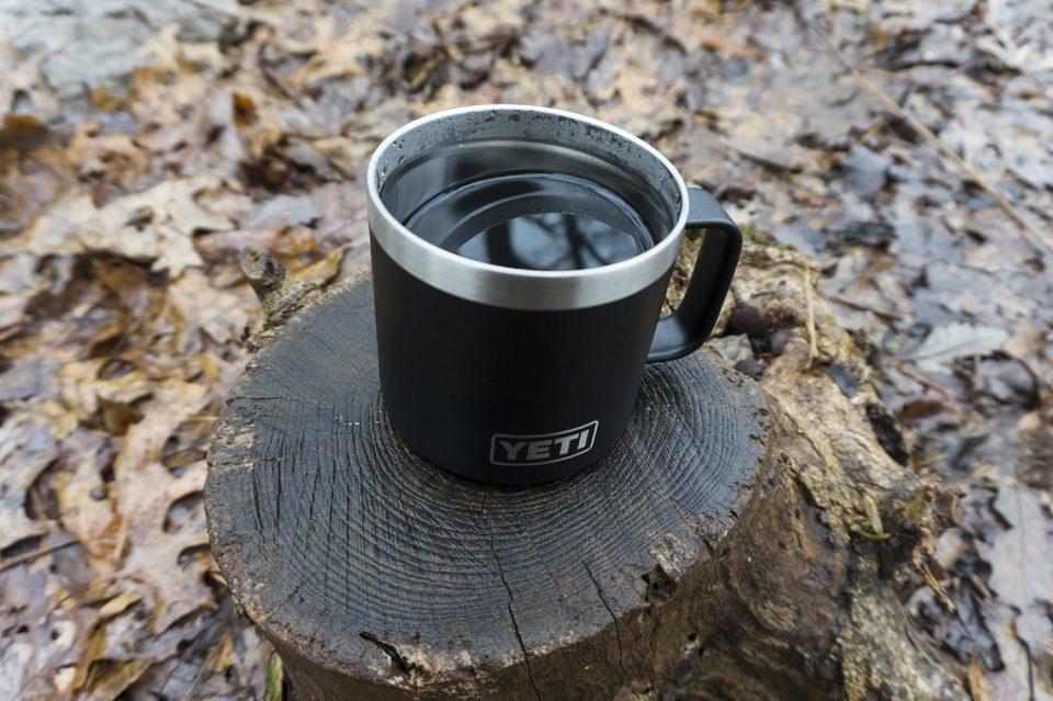 Perfect mug for camping.