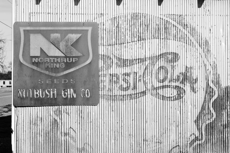 Vintage Ads on an Old Southern Cotton Gin Building. The fading Pepsi-Cola ad dates between 1906 and 1940. Click to buy a fine art print.