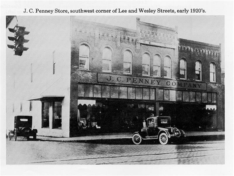 A photograph courtesy of the City of Greenville found on their website. This portrays a JC Penney store on a downtown street corner in the early 1920s. Most likely, our Iva would have shopped there.