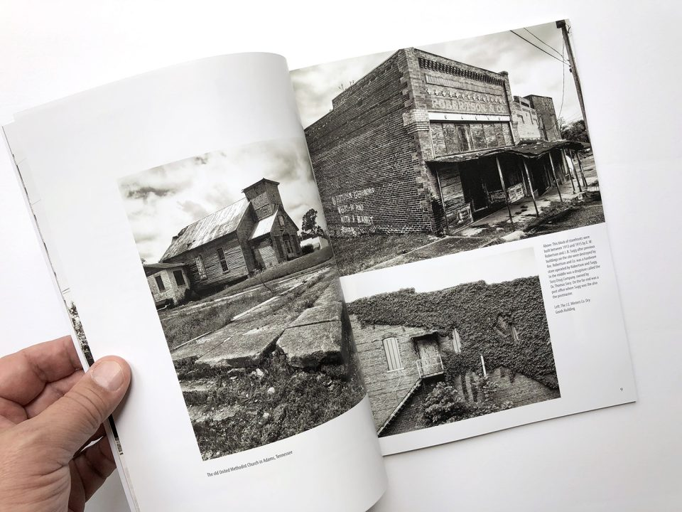 This photograph shows a spread from my photo book about abandoned places.