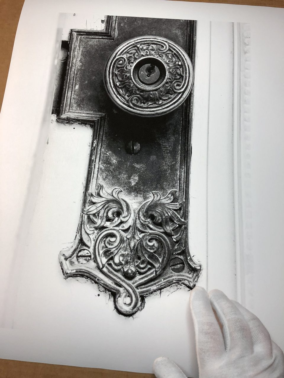 An ornate antique door knob, black and white photograph by Keith Dotson. This old beauty was actually photographed in Houston -- shhhh. Buy a print here.