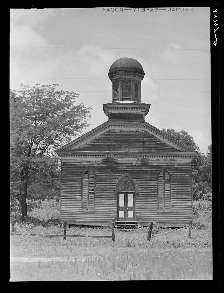 The Baptist Church in Rodney, Mississippi; Marion Post Wolcott, 1940; Library of Congress Prints and Photographs Division, Washington, D.C.
