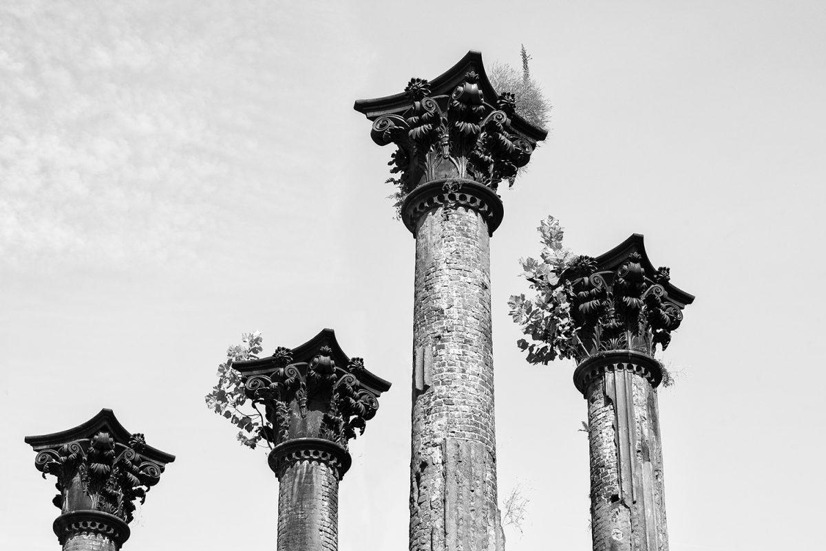 Columns at Windsor ruins Mississippi