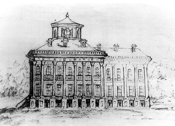 Windsor Mansion Drawing by Henry Otis Dwight