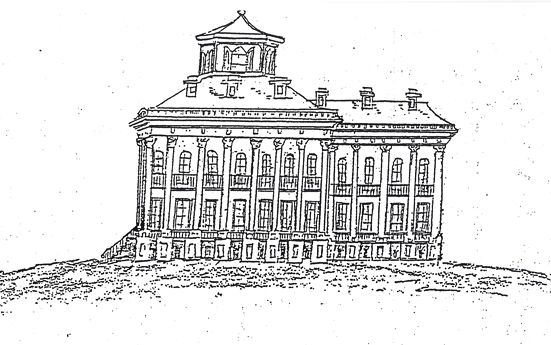 Sketch of Windsor mansion (May 1, 1863) by Henry Otis Dwight. Legend says that Dwight sat under the magnificent tree on the property near the ruins.