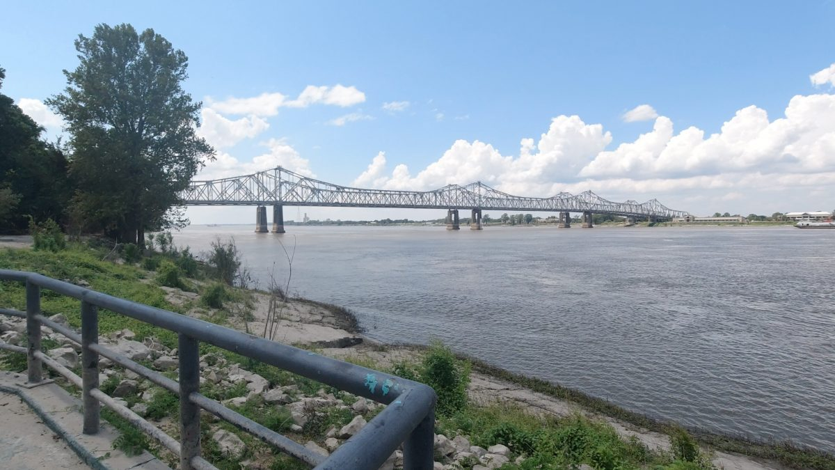 Driving through the Under the Hill District in Natchez Mississippi