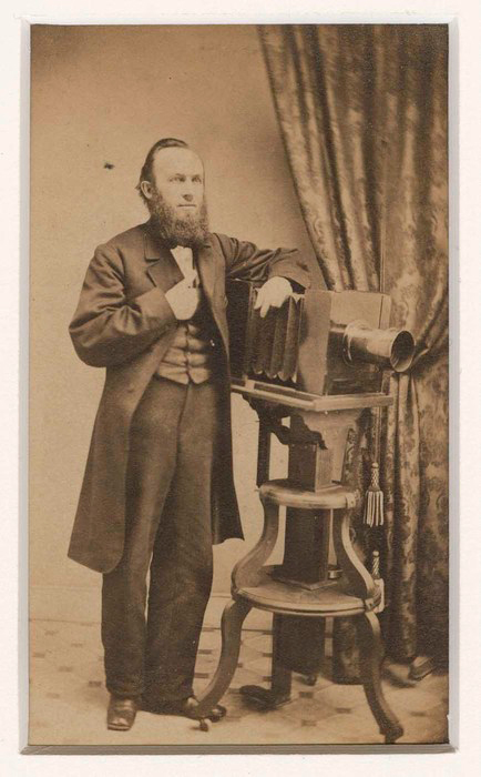 This portrait of Benjamin Lochman is an albumen silver carte de visite ca 1865. Collection of the International Center of Photography.