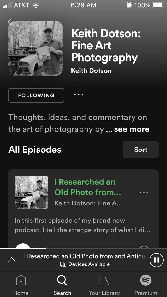 Stream my new photography podcast on Spotify