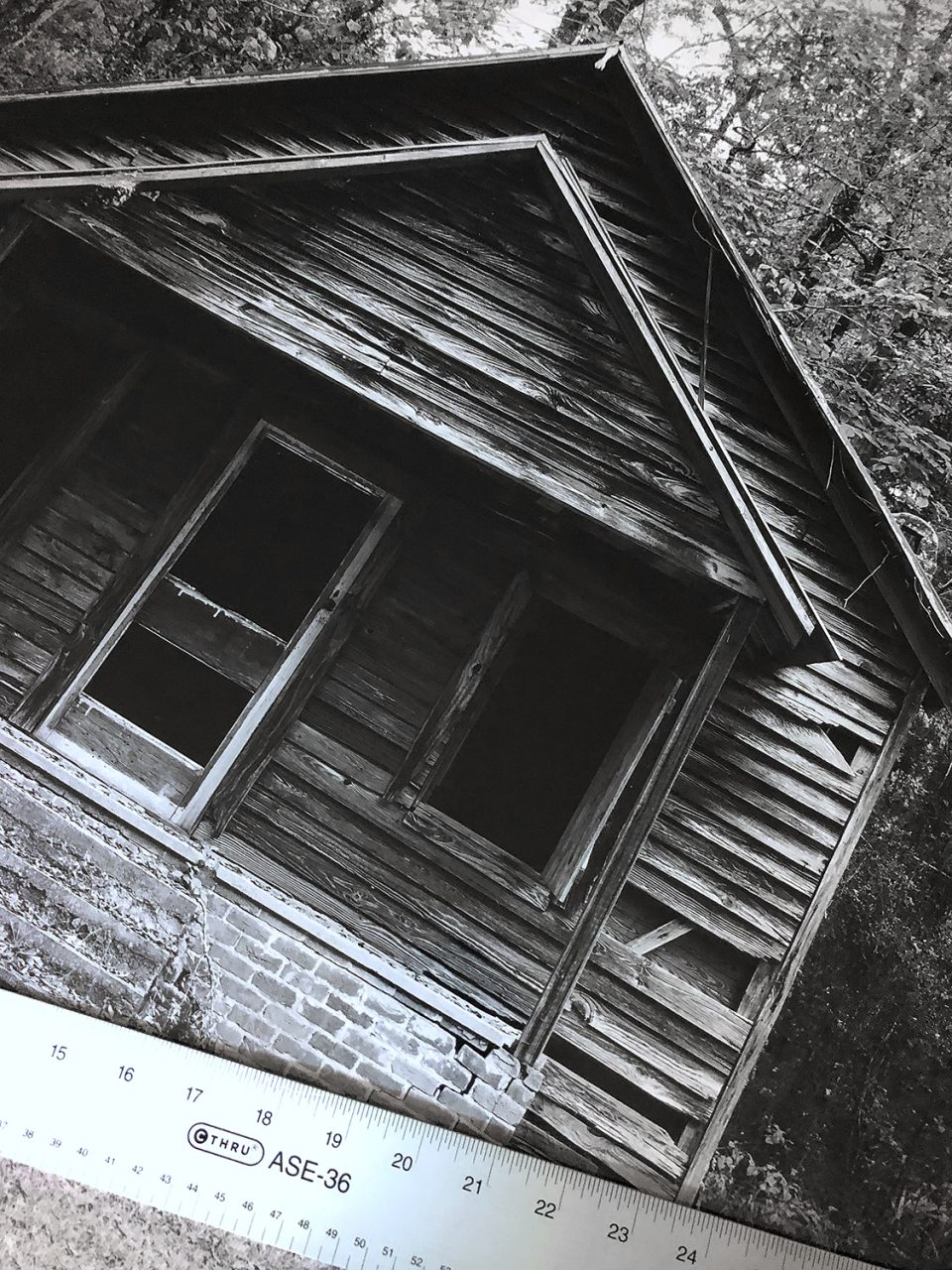 This photograph of an abandoned one-room school was printed for the same client on Hahnemuhle Fine Art Baryta.