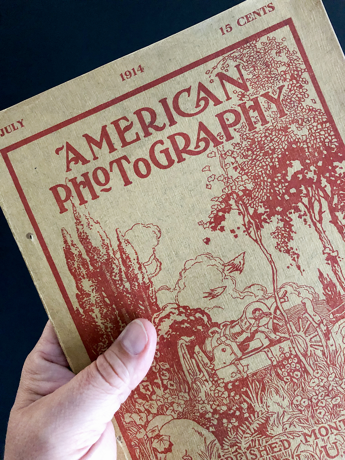 cover of American Photography magazine July 1914 issue