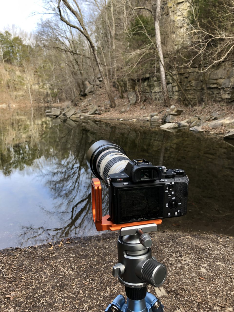 My trusty rig on the location of the mirror-surface Hidden Lake.